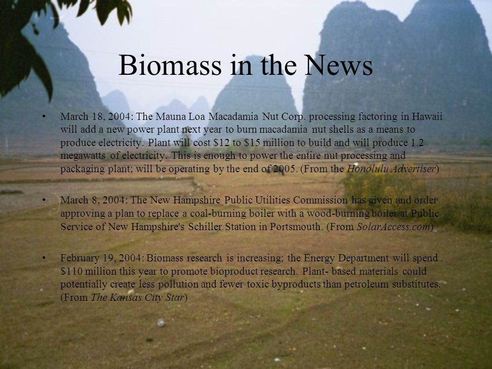 Biomass in the News