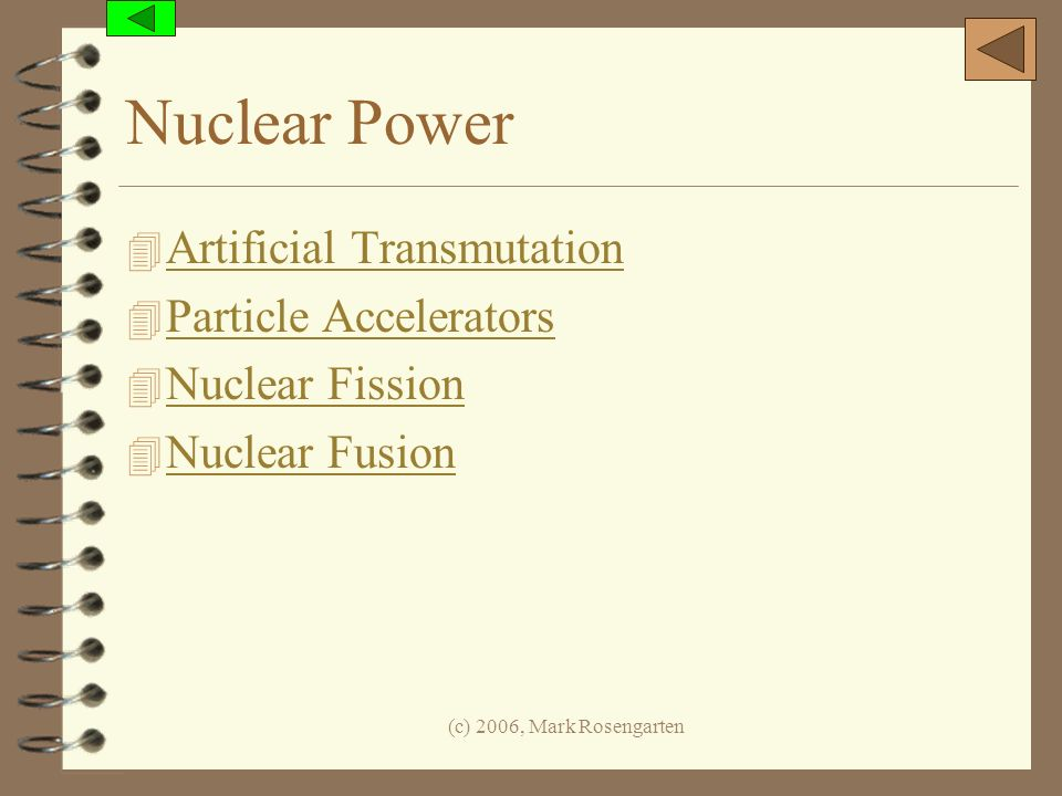 Nuclear Power Artificial Transmutation Particle Accelerators