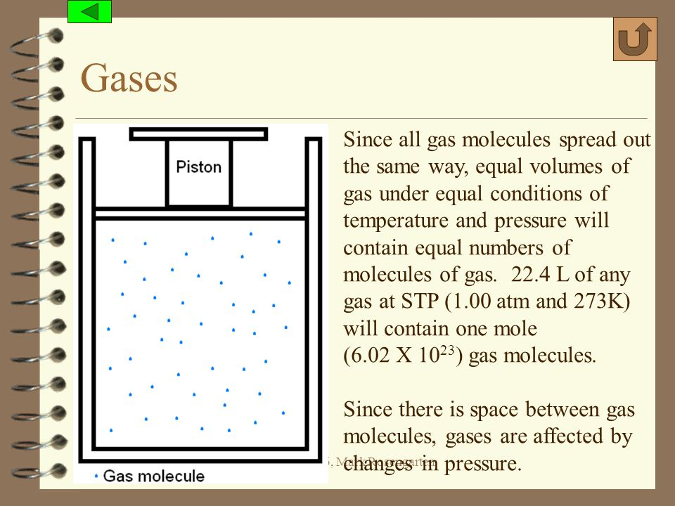 Gases Since all gas molecules spread out