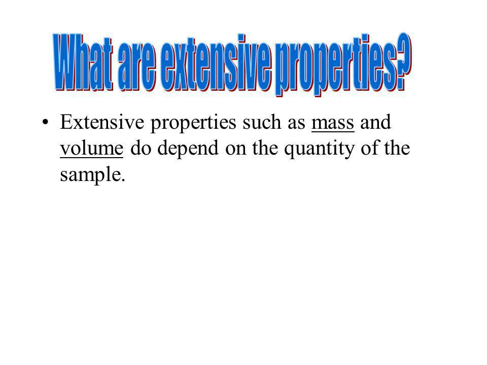 What are extensive properties