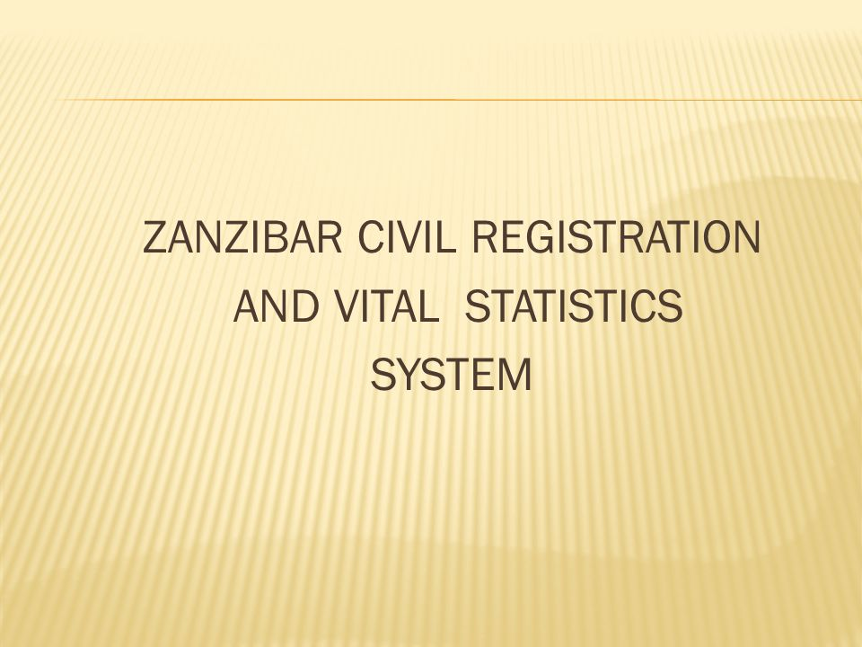 ZANZIBAR CIVIL REGISTRATION