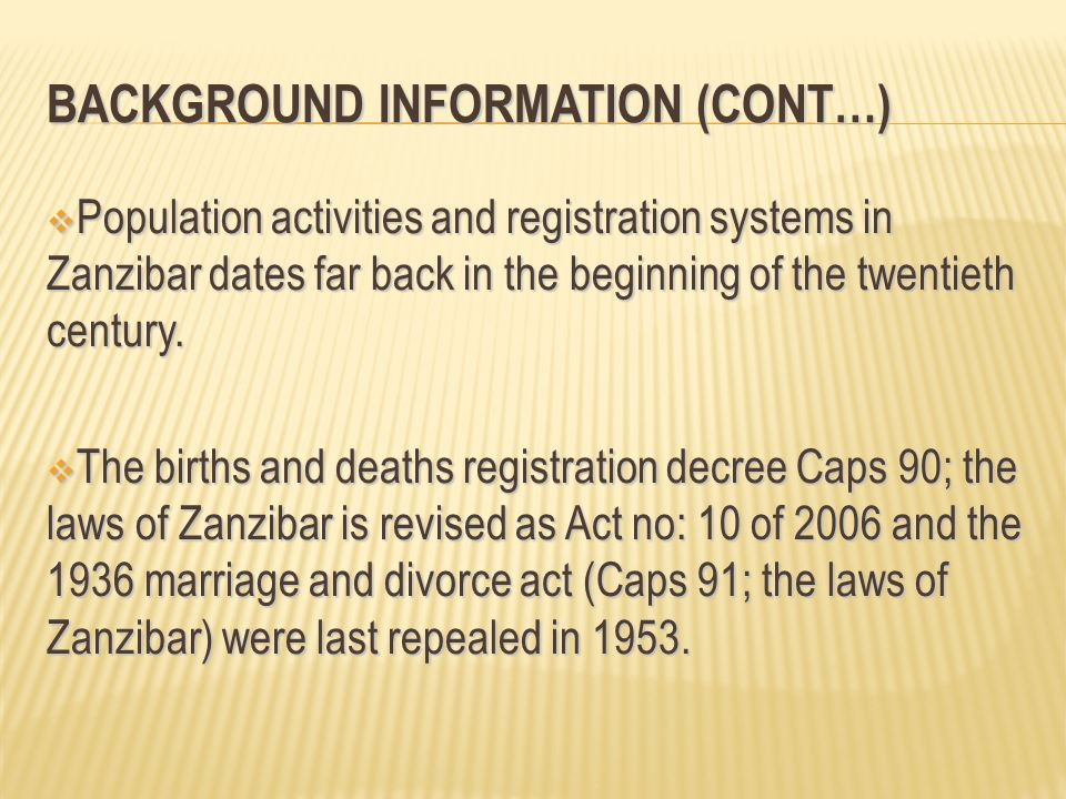 Background Information (Cont…)