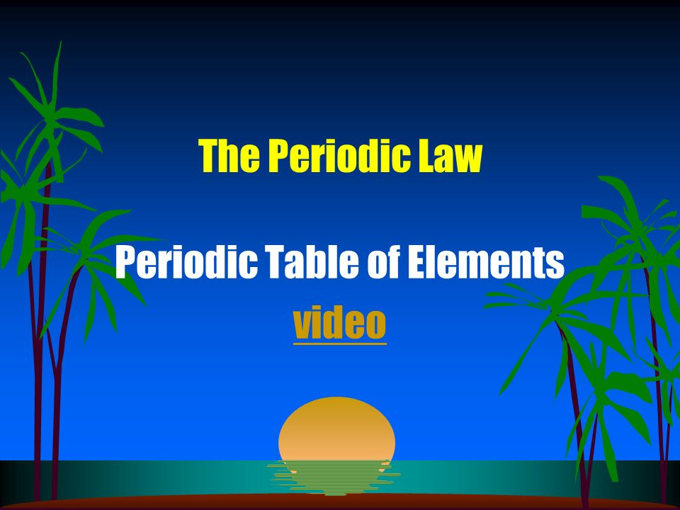 Periodic Table of Elements video