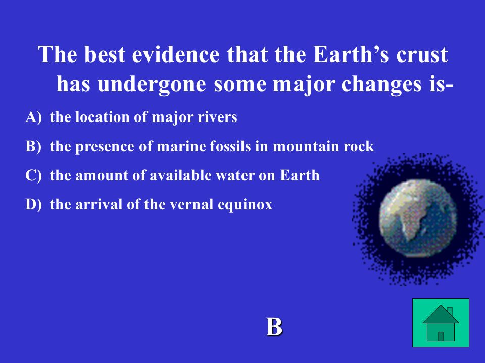 The best evidence that the Earth's crust has undergone some major changes is-