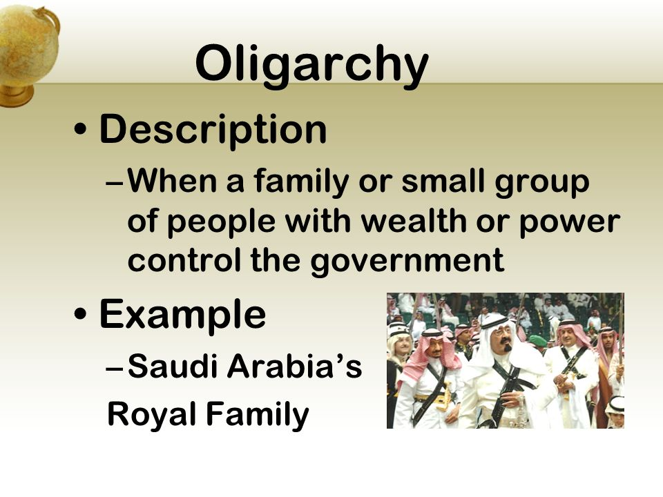 oligarchy examples
