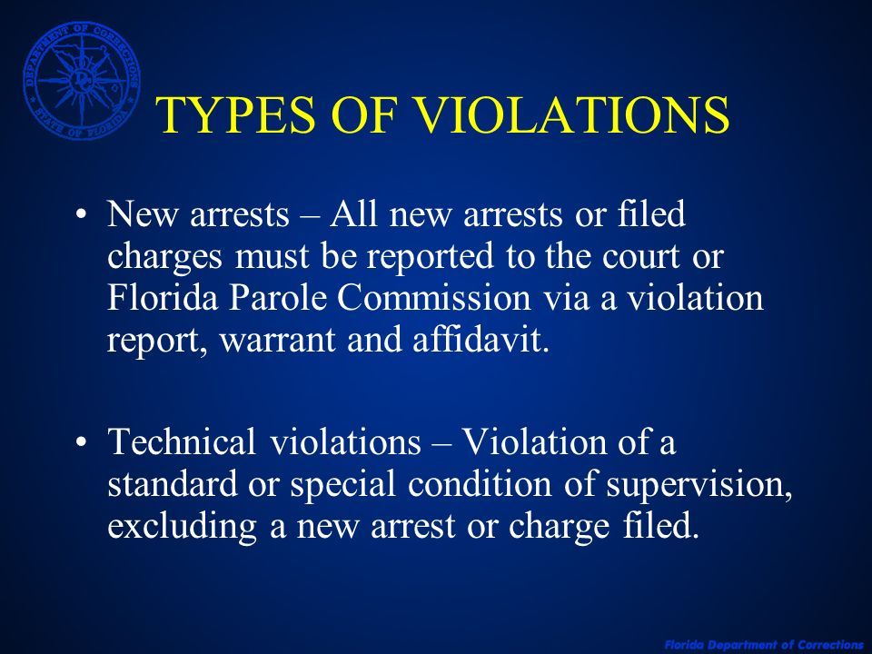 TYPES OF VIOLATIONS