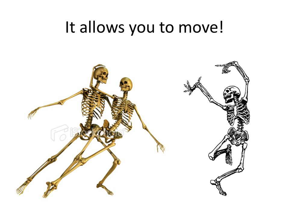 It allows you to move!