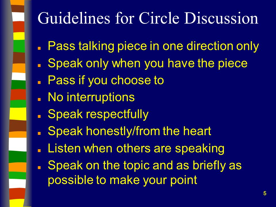 Guidelines for Circle Discussion