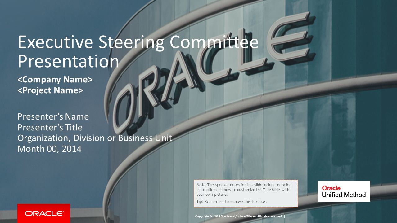 Executive Steering Committee Presentation - ppt download