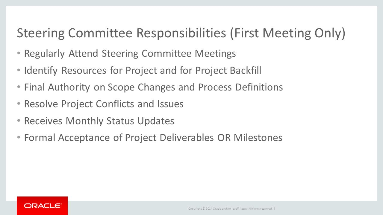 executive steering committee presentation ppt download