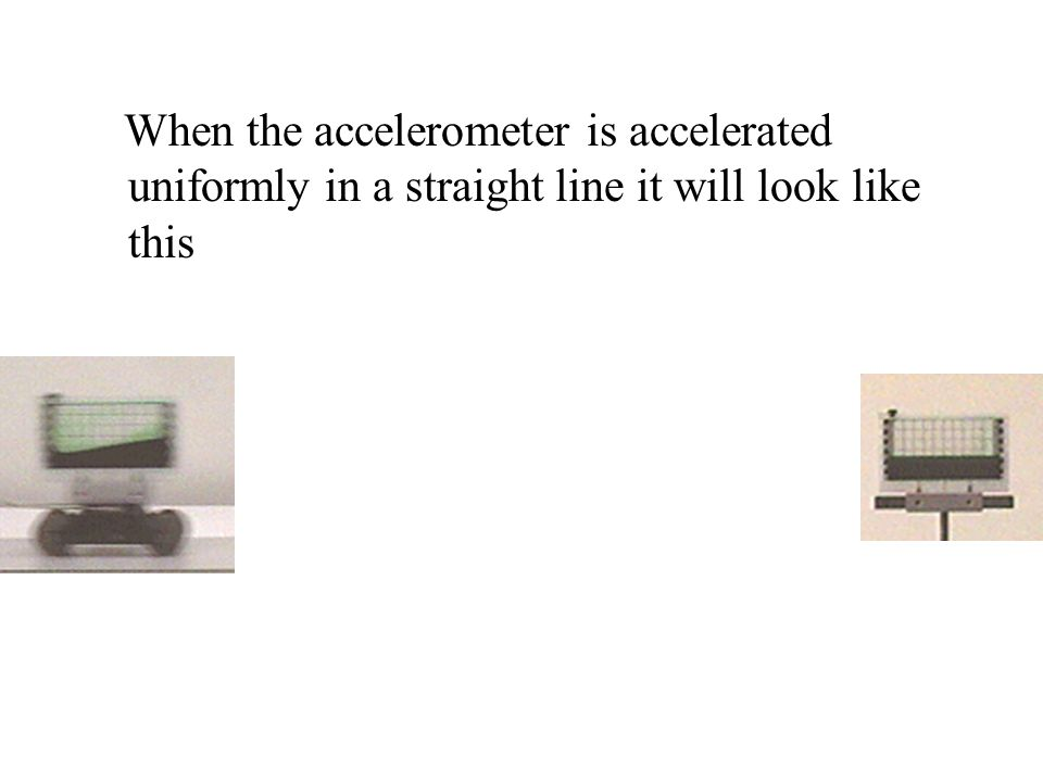 When the accelerometer is accelerated uniformly in a straight line it will look like this