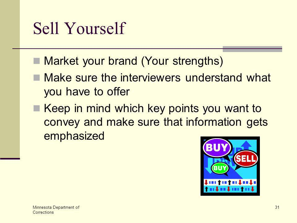 Sell Yourself Market your brand (Your strengths)