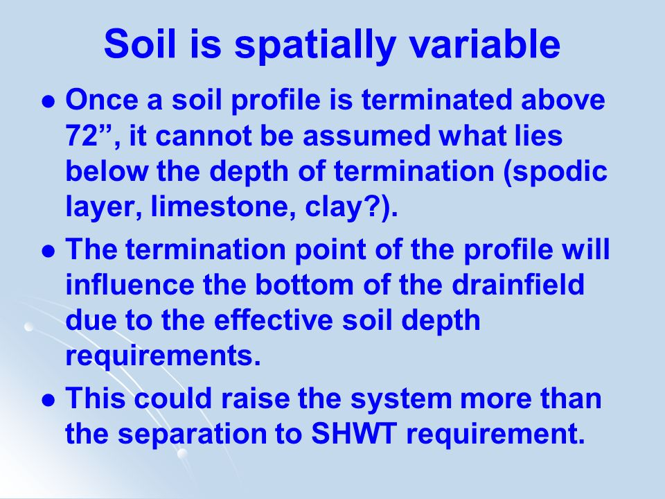 Soil is spatially variable