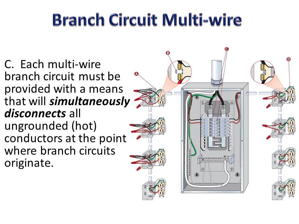 wiring a multiwire branch circuit wire center u2022 rh mitzuradio me Motor Branch Circuit Branch Circuit Diagram Floor Plan