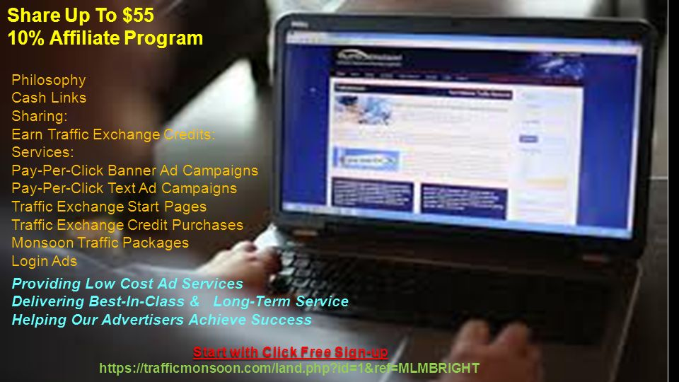 1 Welcome to you all friends Start with Click Free Sign-up