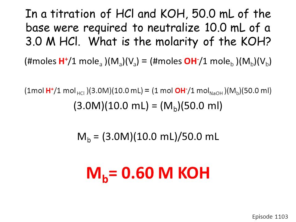 how to find oh from molarity