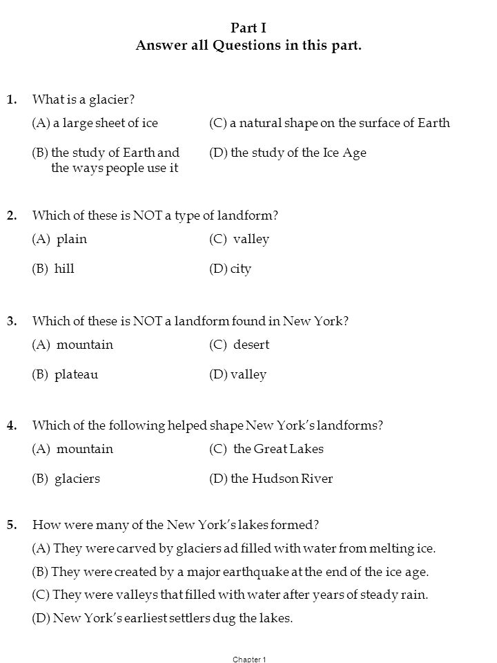 Grade 4 KEY Out of 20 Social Studies Test Chapter 1 Part 1