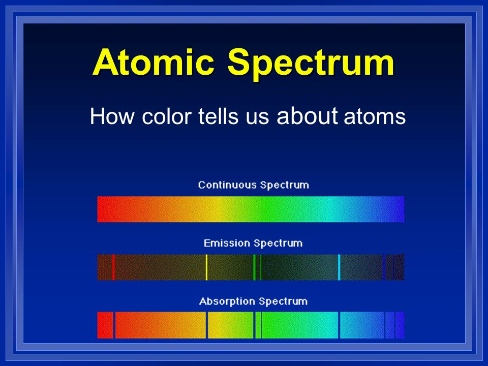 How color tells us about atoms