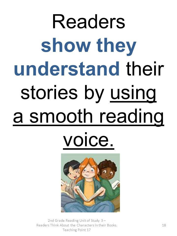 show they understand their stories by using