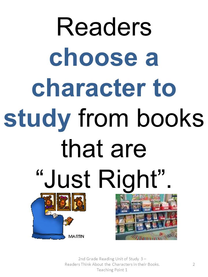 choose a character to study from books