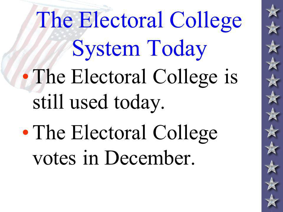 The Electoral College System Today