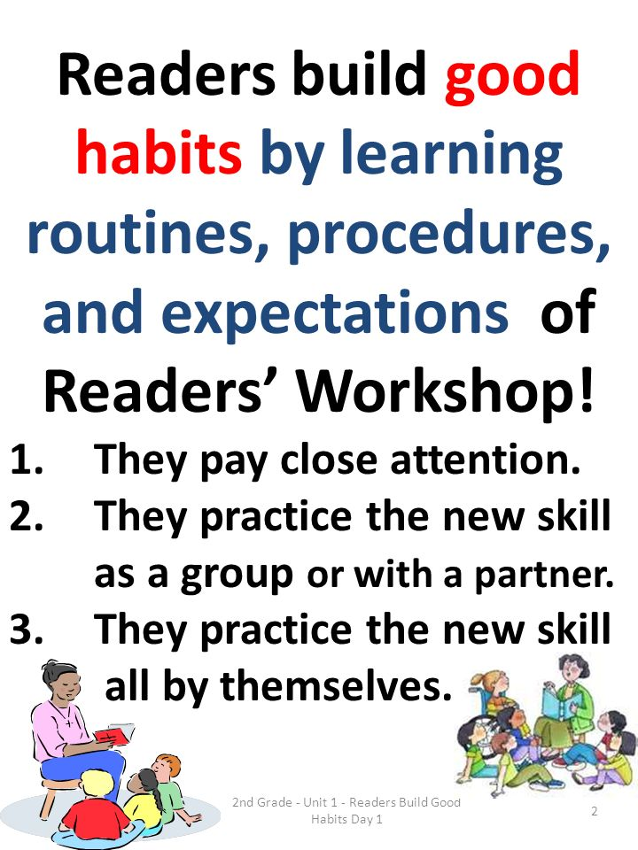 2nd Grade - Unit 1 - Readers Build Good Habits Day 1