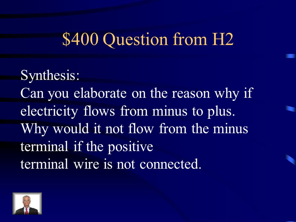 $400 Question from H2 Synthesis: