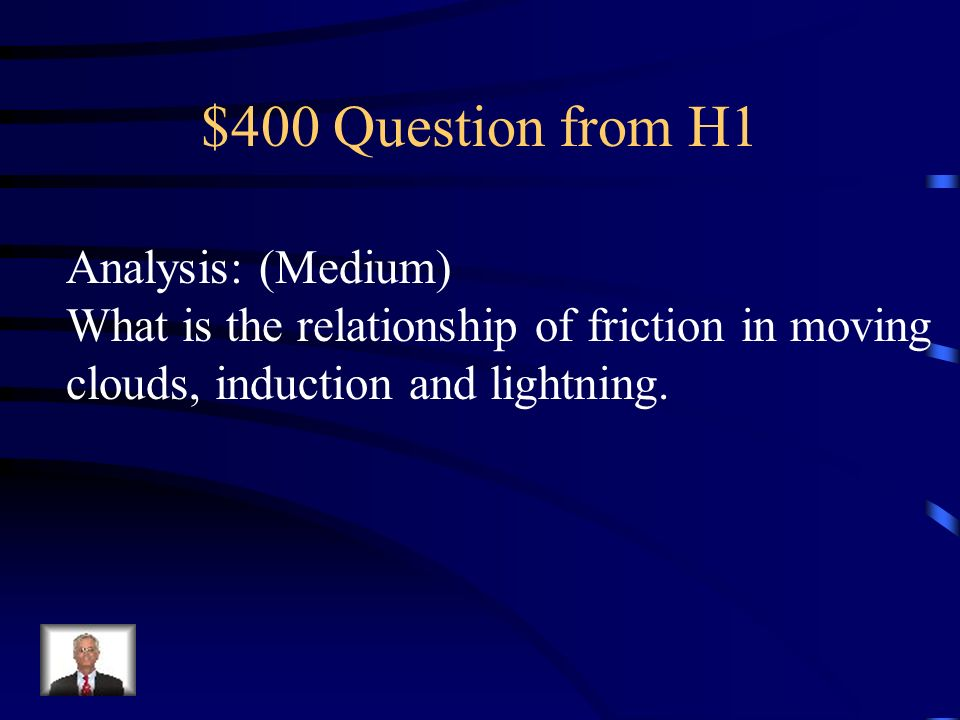 $400 Question from H1 Analysis: (Medium)