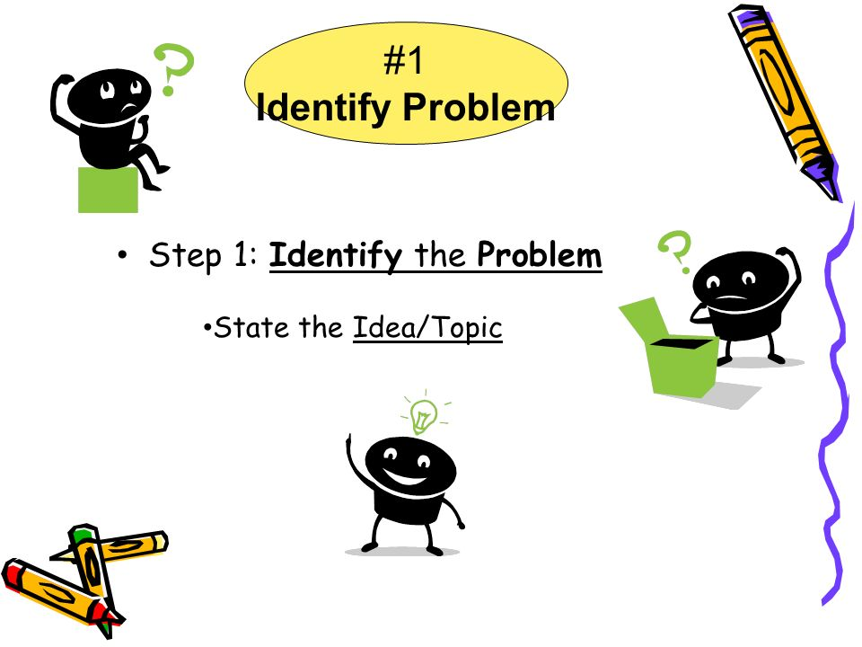 #1 Identify Problem Step 1: Identify the Problem State the Idea/Topic