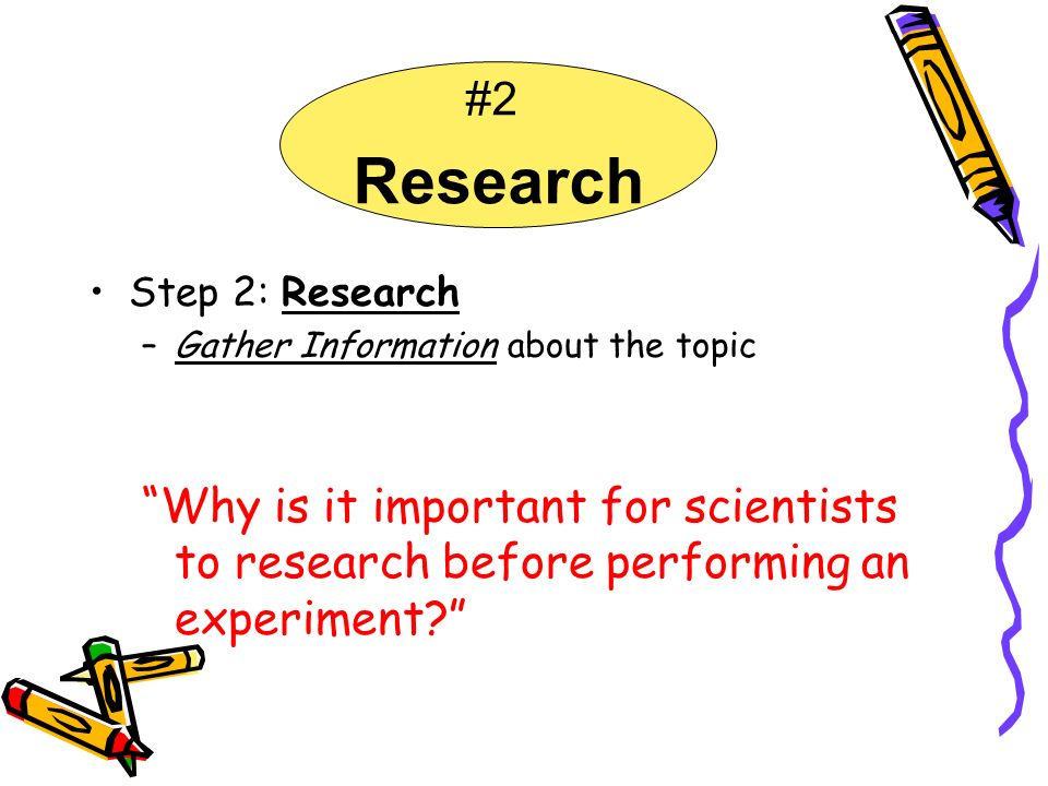 #2 Research. Step 2: Research. Gather Information about the topic.