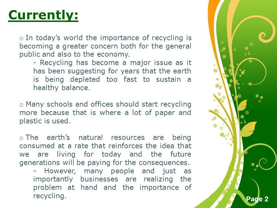 green it importance