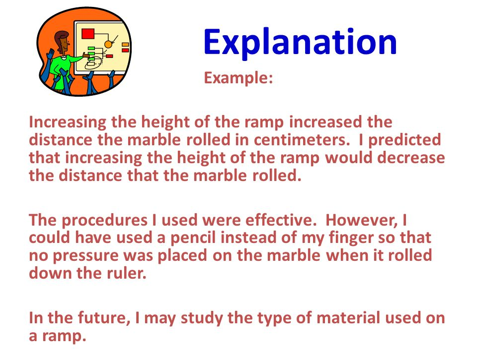 Explanation Example: