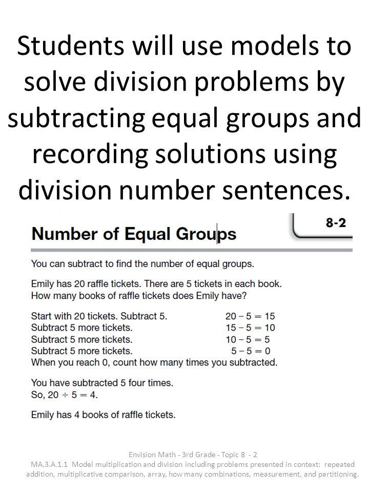 Envision Math - 3rd Grade - Topic 8- 1