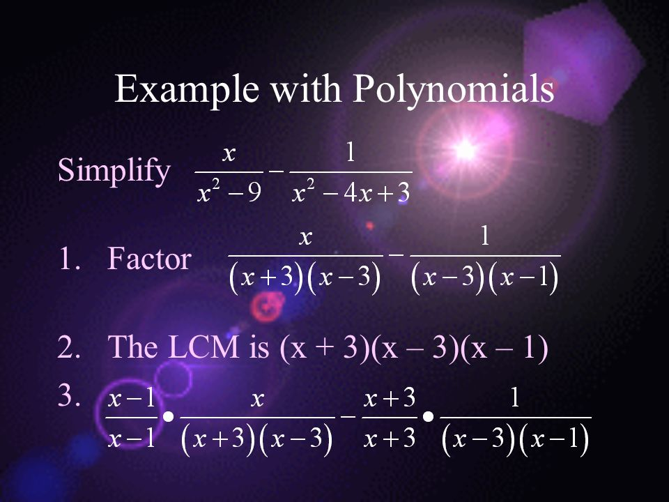 Example with Polynomials