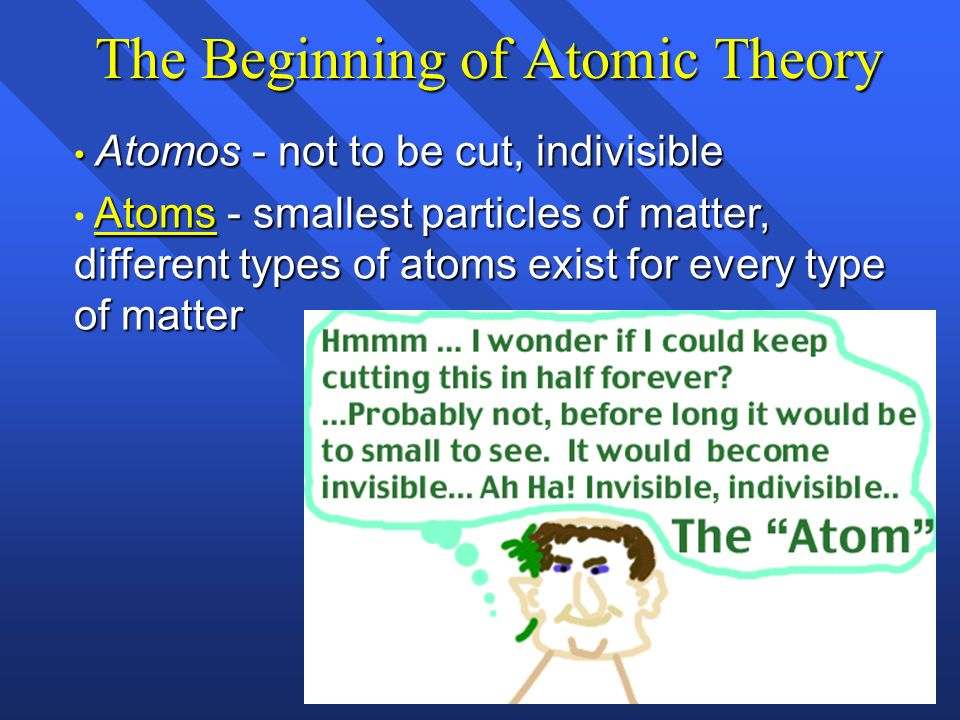 The Beginning of Atomic Theory