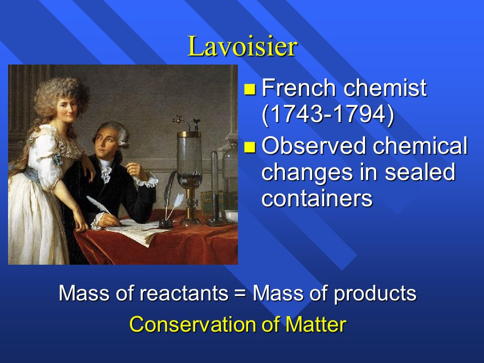 Lavoisier French chemist (1743-1794)