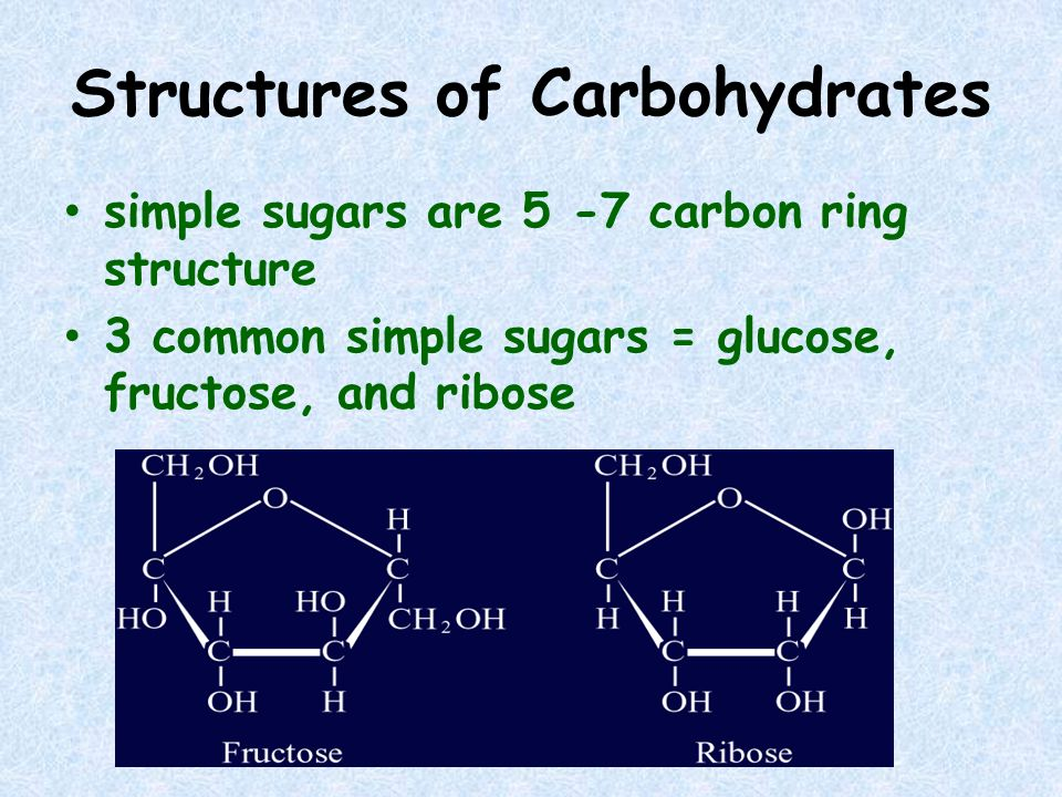 Structures of Carbohydrates