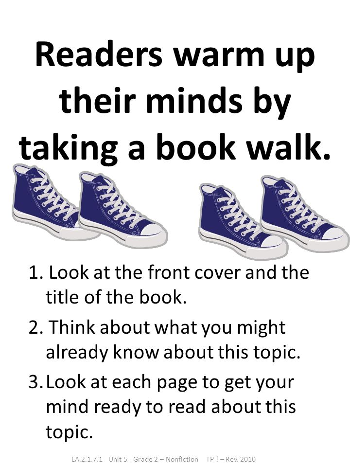 Readers warm up their minds by taking a book walk.