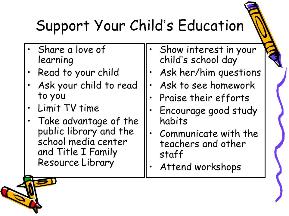 Support Your Child's Education