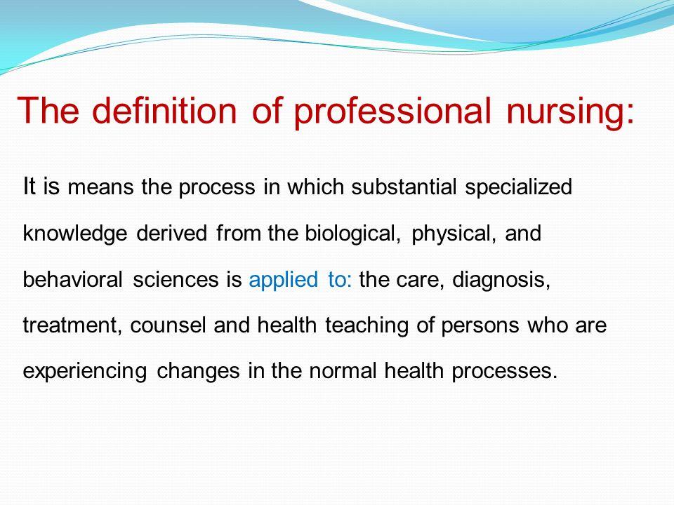 define professionalism in nursing