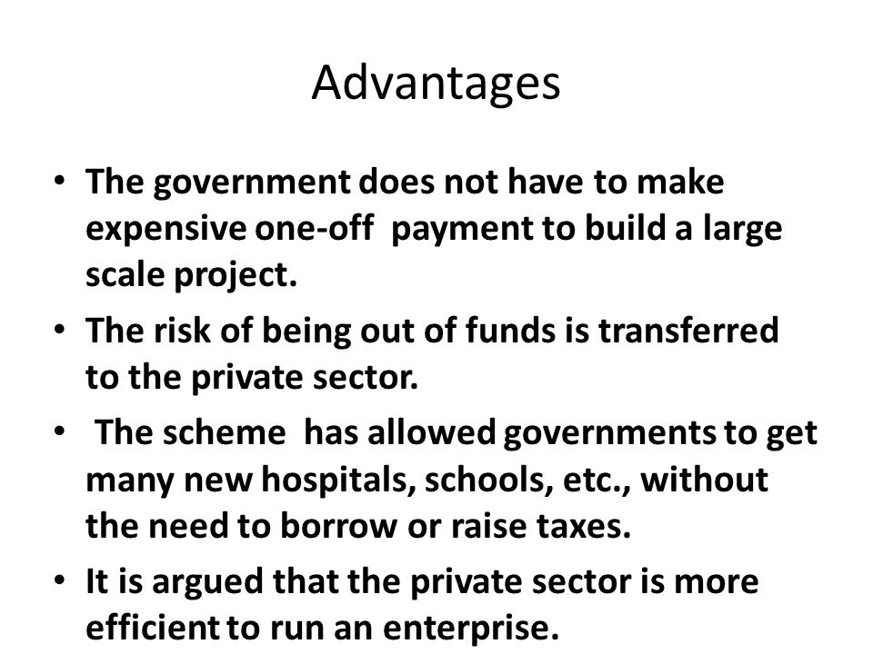 advantages of government hospital