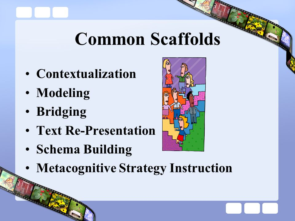 Common Scaffolds Contextualization Modeling Bridging