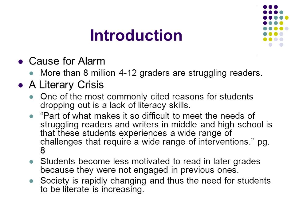 Introduction Cause for Alarm A Literary Crisis