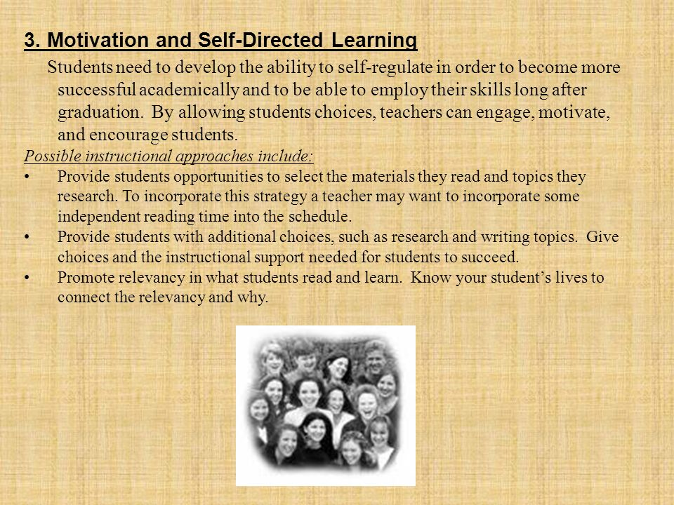 3. Motivation and Self-Directed Learning
