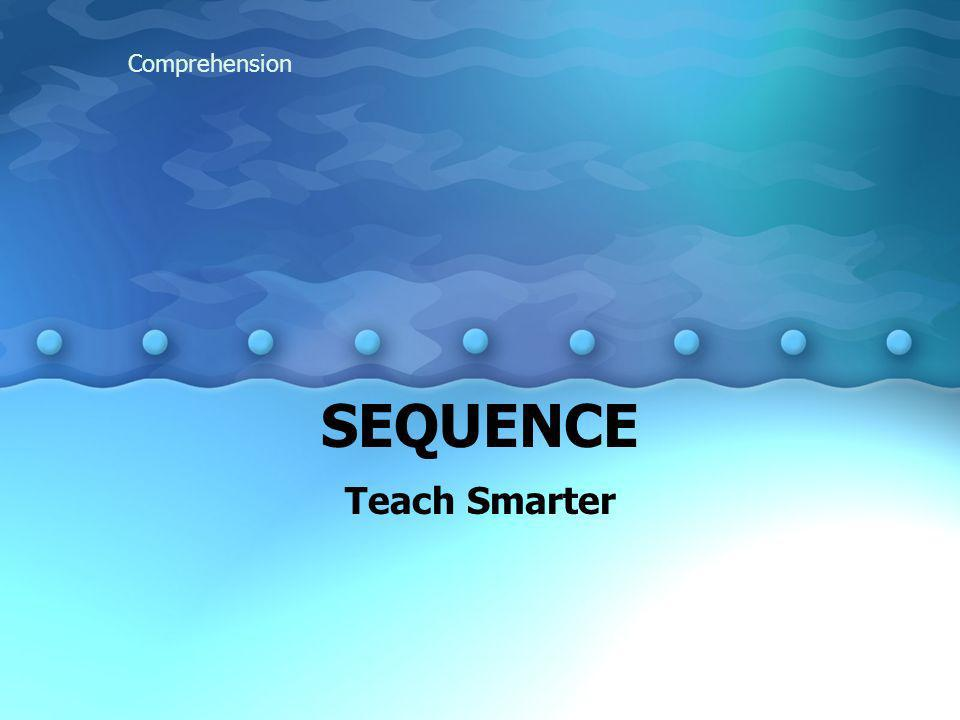 Comprehension SEQUENCE Teach Smarter