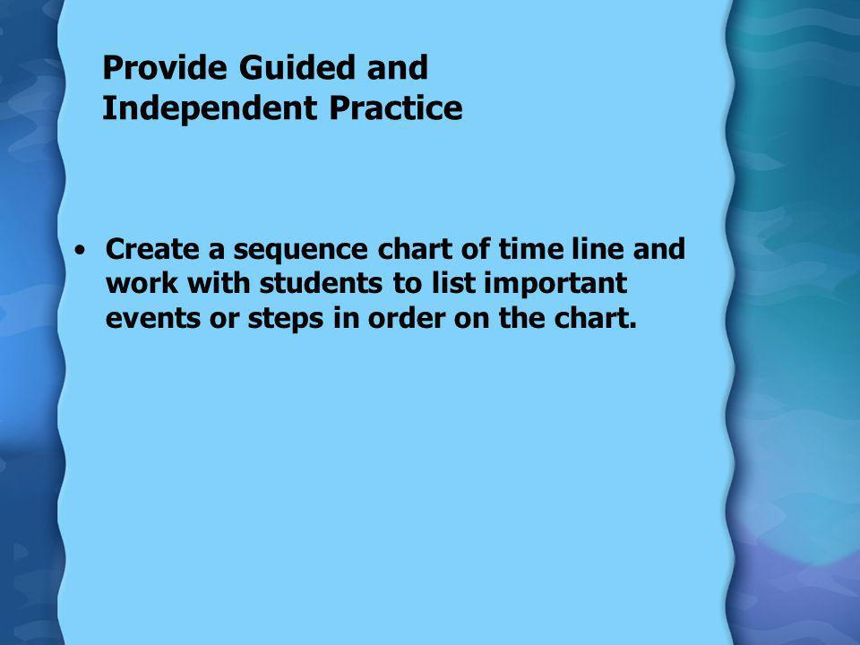 Provide Guided and Independent Practice