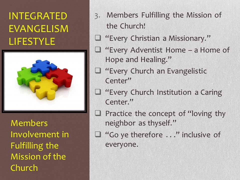 Integrated Evangelism Lifestyle - ppt video online download