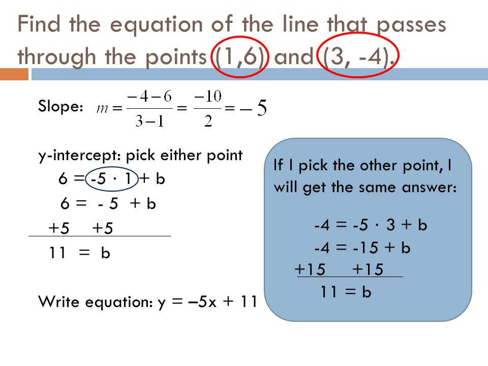 4 2 Writing Linear Equations Given Two Points Ppt Download