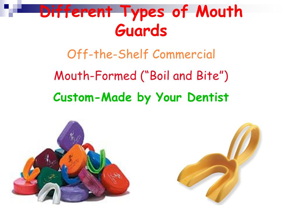 Different Types of Mouth Guards Custom-Made by Your Dentist