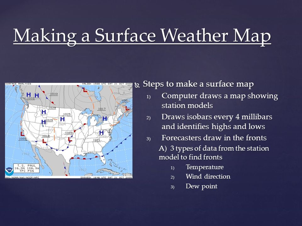 Making A Weather Map.20 5 Forecasting Weather Objectives Ppt Video Online Download